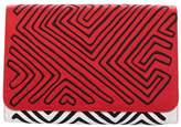 Mola Sasa Guna Clutch - Red & Black