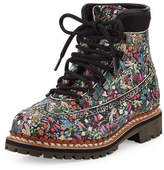 Tabitha Simmons Bexley Floral-Print Leather Boot