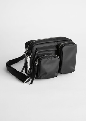 And other stories Nylon Multi Pocket Crossbody Bag