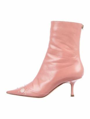 Jimmy Choo Doris Leather Boots Pink