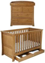 Silver Cross Canterbury Cot Bed And Dresser