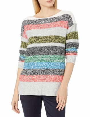 Vince Camuto Women's Long Sleeve Colorblock Boatneck Sweater