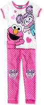 Sesame Street 2-Pc. Cotton Pajama Set, Toddler Girls (2T-5T)