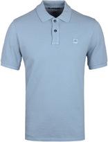 Cp Company Sky Blue Pique Short Sleeve Polo Shirt