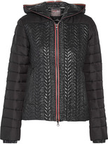 Duvetica Cloto wool-paneled quilted shell down jacket