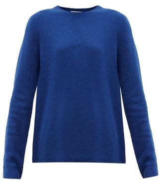 Gabriela Hearst Arcas Round-neck Cashmere-blend Boucle Sweater - Womens - Blue