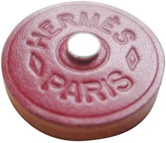 Hermã ̈S HermAs Petit H Burgundy Leather Pins & brooches