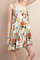 Easel White Floral Dress
