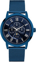 GUESS Men's Multifunction Blue Stainless Steel Bracelet Watch 43mm U0871G3