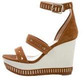 Tamara Mellon Suede Platform Wedge Sandals