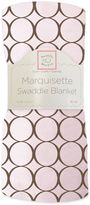 Swaddle Designs Circles Lightweight Marquisette Swaddling Blanket in Pink and Brown