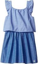 Tommy Hilfiger Two-Tone Chambray Top/Skirt Dress (Little Kids/Big Kids)