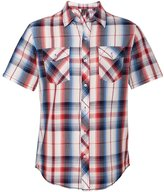 Burnside Mens Plaid Short Sleeve Shirt-B9202