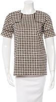 Derek Lam 10 Crosby Printed Short Sleeve Top