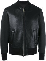 Neil Barrett Tattooed Statue leather bomber jacket - men - Lamb Skin/Polyamide/Polyester/Viscose - XS
