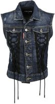 DSQUARED2 Sleeveless Laced Denim Jacket