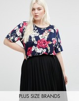 Koko Plus Top In Rose Print