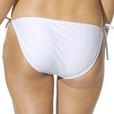 Xhilaration Junior's Side Tie Swim Bottom -White