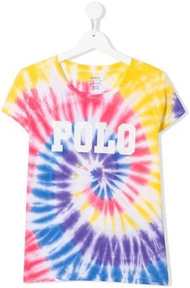 Ralph Lauren Kids TEEN tie-dye T-shirt