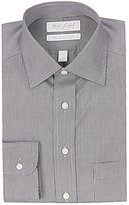 Roundtree & Yorke Gold Label Fitted Classic-Fit Spread-Collar Houndstooth Dress Shirt