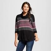 J Women's Pattern Turtleneck 3/4 Sleeve Sweater - J'AIME (Juniors')