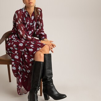 La Redoute Collections Printed Maxi Dress with Long Sleeves