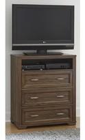Logan 3 Drawer Chest with Media Shelf My Home Furnishings