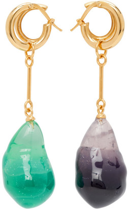 Panconesi Gold Stellar Drop Earrings