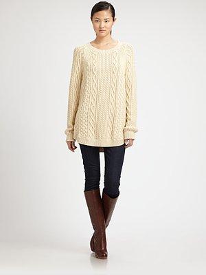 MICHAEL Michael Kors Fisherman Cable-Knit Sweater