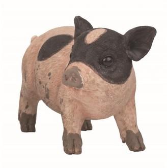 Transpac Resin 8 in. Brown Spring Farmhouse Pig Figurine