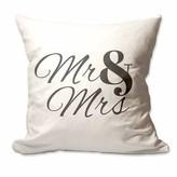 Hyuk Mr. and Mrs. Throw Pillow Cover Winston Porter Color: White