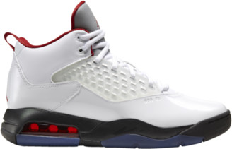 Jordan Maxin 200 Basketball Shoes - White / Gym Red / Black Reflect Silver