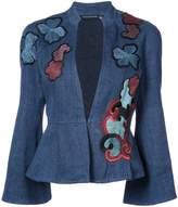 Josie Natori embroidered peplum jacket