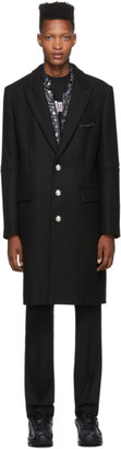 Palm Angels Black Classic Coat