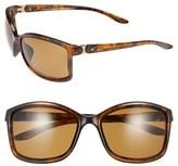 Oakley Women's 'Step Up' 62Mm Polarized Sunglasses - Polished Black/ Grey Polar