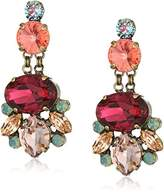 Sorrelli Womens Radiant Sunrise Floral Statement Drop Earrings,2