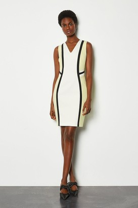 Karen Millen Colour Block Pencil Sleeveless Dress