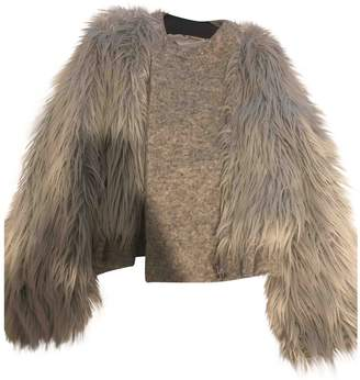Band Of Outsiders Grey Faux fur Jacket for Women