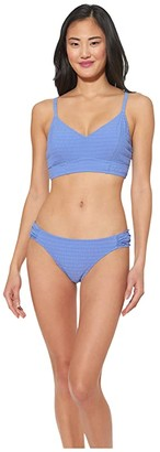 Jessica Simpson Smock It To Ya Side Shirred Hipster Bottoms (Shadow) Women's Swimwear