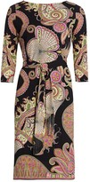 Etro Paisley Belted Jersey Dress
