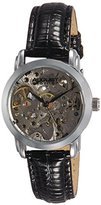 August Steiner Women's AS8033SS Skeleton Automatic Strap Watch