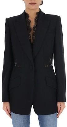 Alexander McQueen Lace Insert Tailored Blazer