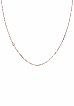Elli PREMIUM Women Gold Plated 925 Sterling Silver Diamond Necklace of Length 45cm
