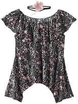 Knitworks Girls 7-16 Floral Off Shoulder Top & Choker Necklace Set