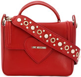 Love Moschino heart detail tote - women - Leather - One Size