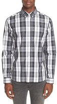 Saturdays Nyc Men's Plaid Slim Fit Sport Shirt