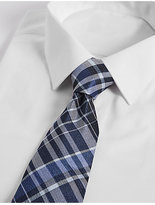 M&S Collection Pure Silk Checked Tie
