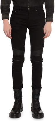 Amiri Men's MX2 Skinny Moto Stretch-Denim Jeans