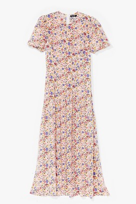 Nasty Gal Womens Drop By Sometime Floral Maxi Dress - Cream