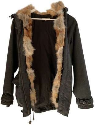 Sandro Anthracite Wool Coat for Women